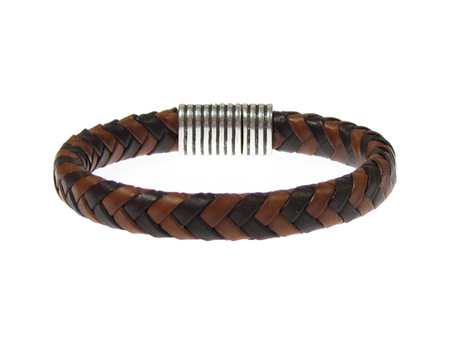 Herr lderarmband Dylan Brun/Cognac