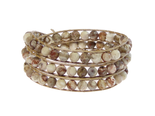 Armband Kendra Crazy Lace Agat Beige