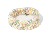 Armband Summer South Sea Shell Rosa/Grön/Gul