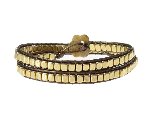 Armband Meredith Guld Brun