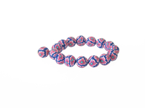 Armband Fimo Bl/cerise