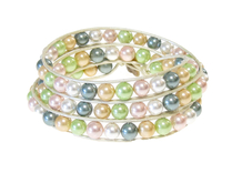 Armband Summer South Sea Shell Grön/Gul/Vit/Rosa