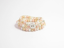 Armband Summer South Sea Shell Rosa/Vit/Guld