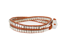 Armband Meredith Silver Orange