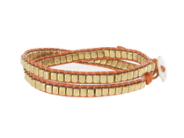 Armband Meredith Guld Orange
