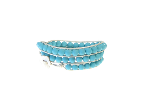 Armband Summer South Sea Shell Opak Turkos