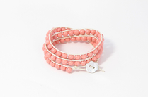 Armband Summer South Sea Shell Opak Rosa