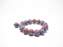 Armband Fimo Rd/Lila
