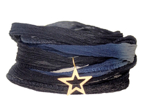 Armband Silk Navy/Black/Grey