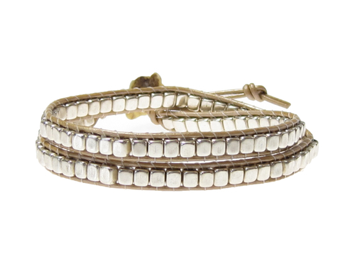 Armband Meredith Silver Beige